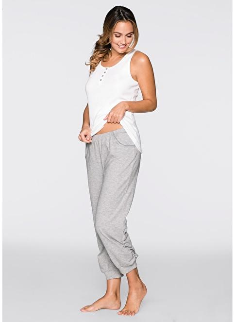 Bonprix Pijama Takım Beyaz